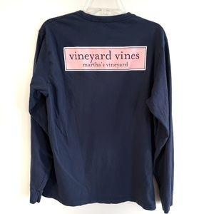 Vineyard Vines Long Sleeve Logo Tee